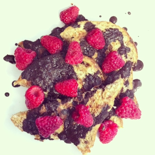 chocolate raspberry french toast