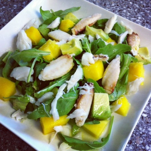 crab mango avocado salad